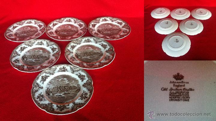 PORCELANA I GLESA - JOHNSON BROS ENGLAD IROSTONE COLECCIÓN CASTILLOS (Vintage - Decoración - Porcelanas y Cerámicas)