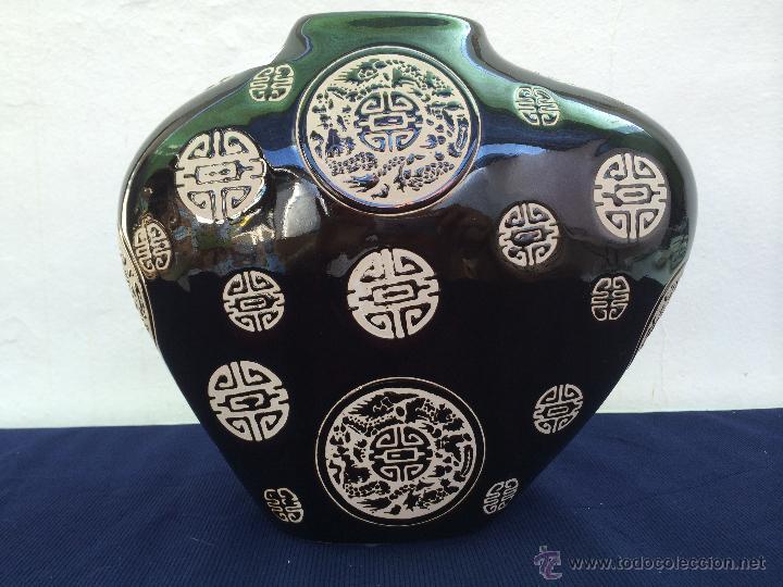 JARRON EN CERAMICA ESMALTADA AÑOS '70 (Vintage - Decoración - Porcelanas y Cerámicas)