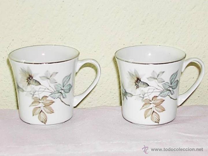 VINTAGE -- LOTE 2 TAZAS DE CAFÉ / TE --- PONTESA CHINAMODA - HECHO EN ESPAÑA. (Vintage - Decoración - Porcelanas y Cerámicas)