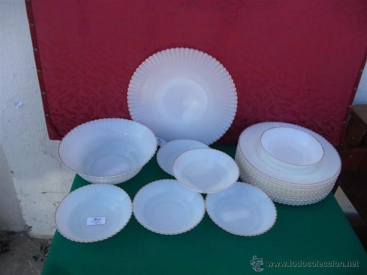Vajilla de cristal opalino blanco comprar cristal y - Vajillas de cristal ...