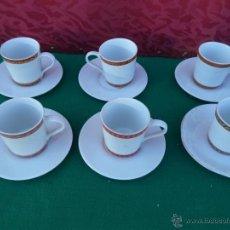 Vintage: 6 TAZAS Y PLATOS PORCELANA. Lote 44986945