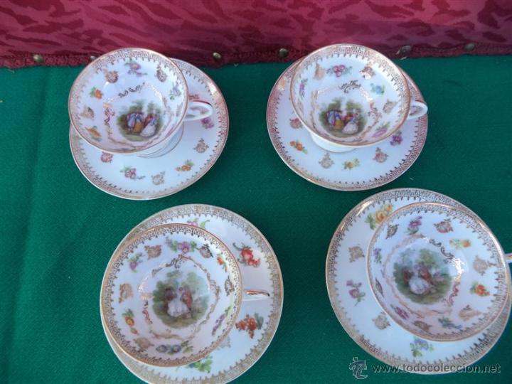 Vintage: 4 tazas y platos porcelana - Foto 2 - 44987090