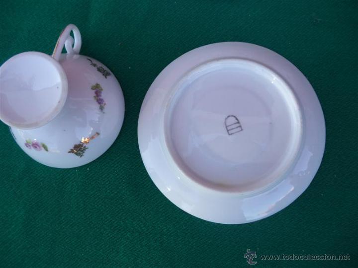 Vintage: 4 tazas y platos porcelana - Foto 3 - 44987090