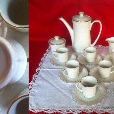 Vintage: PORCELANA PONTESA JUEGO DE CAFÉ 15 PZAS. 6 SERVICIOS. Lote 137246816