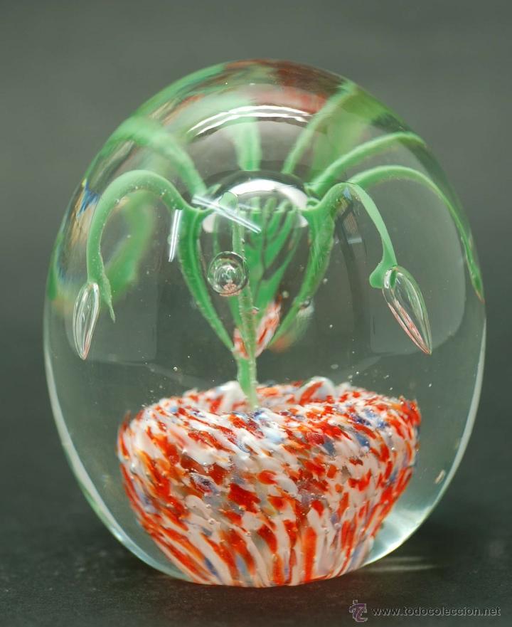 Vintage: Pisapapeles cristal Murano flores años 70 - Foto 2 - 45082884