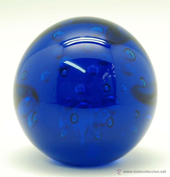 Vintage: Pisapapeles cristal Murano azul cobalto años 70 - Foto 2 - 45083040