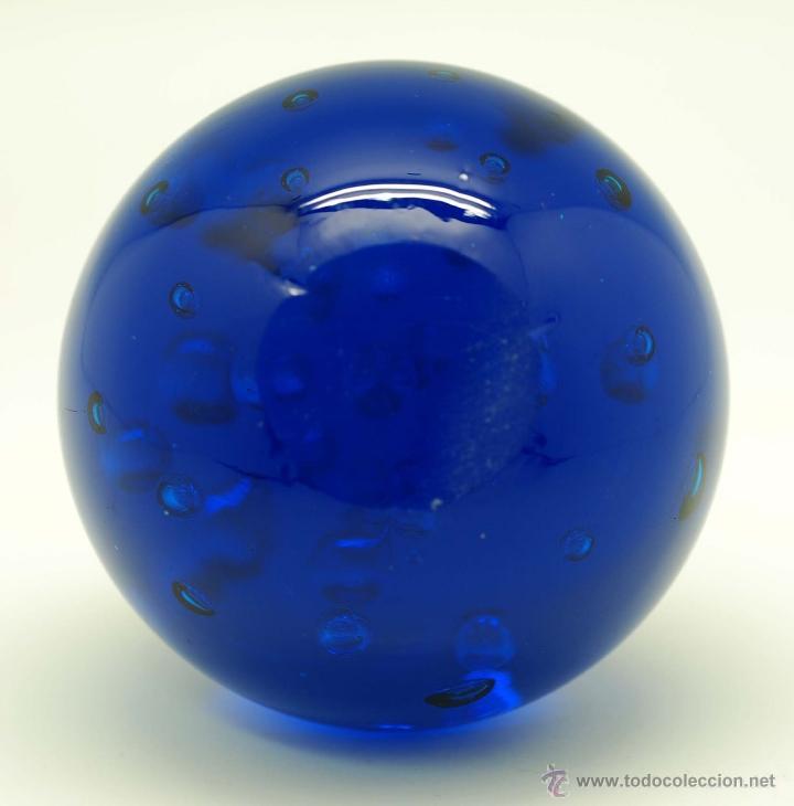 Vintage: Pisapapeles cristal Murano azul cobalto años 70 - Foto 3 - 45083040