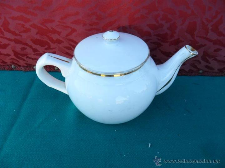 TETERA DE PORCELANA VISTAALEGRE (Vintage - Decoración - Porcelanas y Cerámicas)