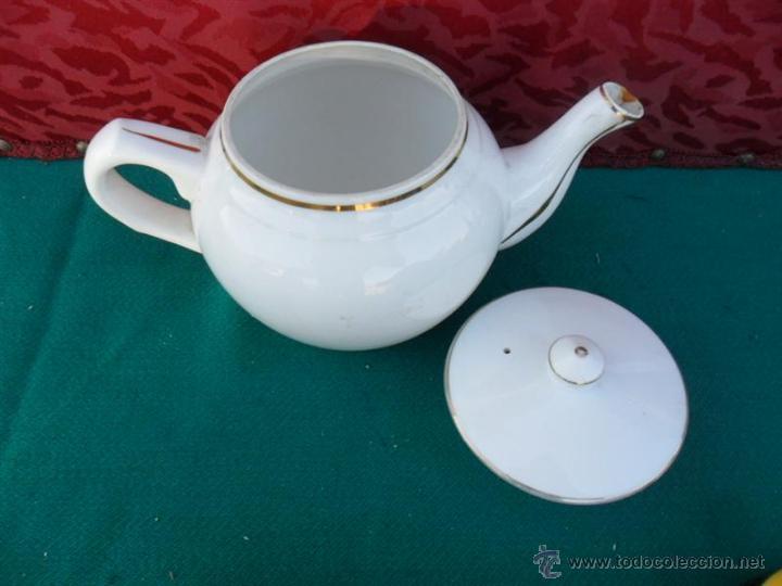 Vintage: tetera de porcelana vistaalegre - Foto 2 - 45093852