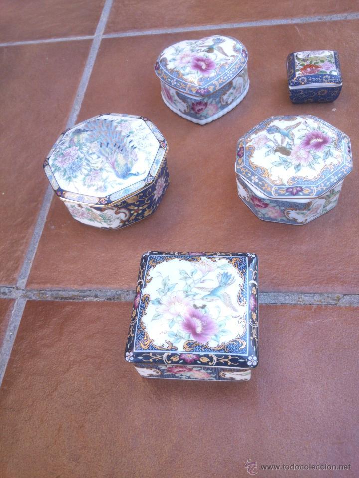 COLECCION JOYEROS CINCO DISTINTOS (Vintage - Decoración - Porcelanas y Cerámicas)