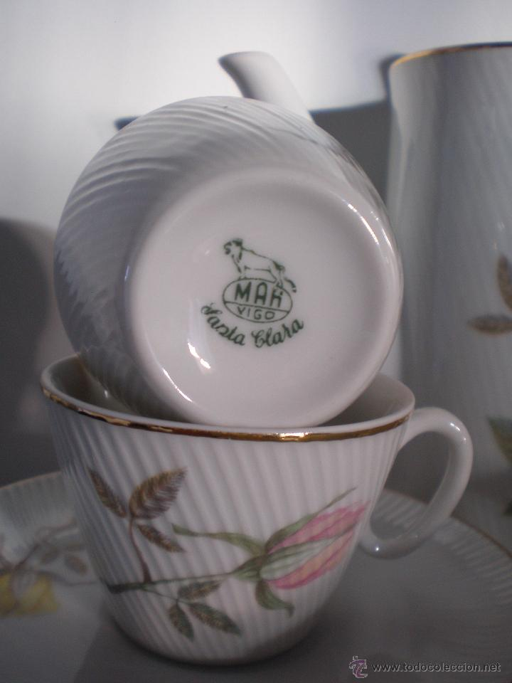 Vintage: JUEGO DE CAFÉ PORCELANA VINTAGE ANTIGUO SANTA CLARA AÑOS 60 - 70 - Foto 6 - 45328382