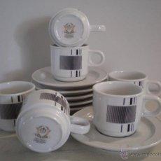 Vintage: JUEGO TAZAS CAFE PORCELANA VINTAGE. CAPEANS. Lote 45329471