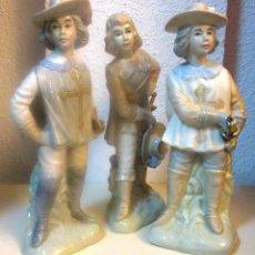 Vintage: LOS TRES MOSQUETEROS, DE SANBO, PORCELANA DE VALENCIA. ESPAÑA. 28 CM. PERFECTOS.. Lote 45337154