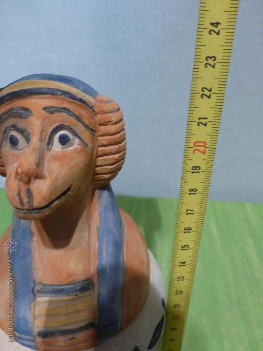 Vintage: IMPORTANTE Vaso canopo EGIPCIO DE ENTERRAMIENTO - FIEL REPLICA ARTESANAL EN ALTA CALIDAD DE Hapy - - Foto 3 - 45430201