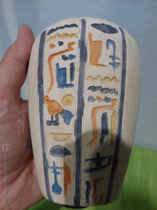 Vintage: IMPORTANTE Vaso canopo EGIPCIO DE ENTERRAMIENTO - FIEL REPLICA ARTESANAL EN ALTA CALIDAD DE Hapy - - Foto 7 - 45430201