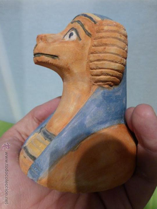 Vintage: IMPORTANTE Vaso canopo EGIPCIO DE ENTERRAMIENTO - FIEL REPLICA ARTESANAL EN ALTA CALIDAD DE Hapy - - Foto 8 - 45430201