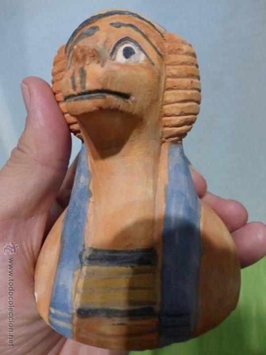 Vintage: IMPORTANTE Vaso canopo EGIPCIO DE ENTERRAMIENTO - FIEL REPLICA ARTESANAL EN ALTA CALIDAD DE Hapy - - Foto 9 - 45430201