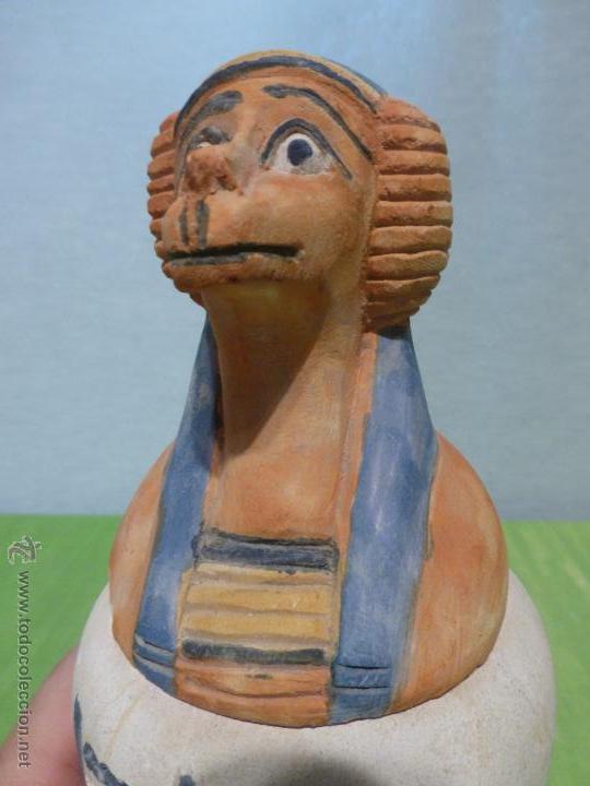 Vintage: IMPORTANTE Vaso canopo EGIPCIO DE ENTERRAMIENTO - FIEL REPLICA ARTESANAL EN ALTA CALIDAD DE Hapy - - Foto 11 - 45430201