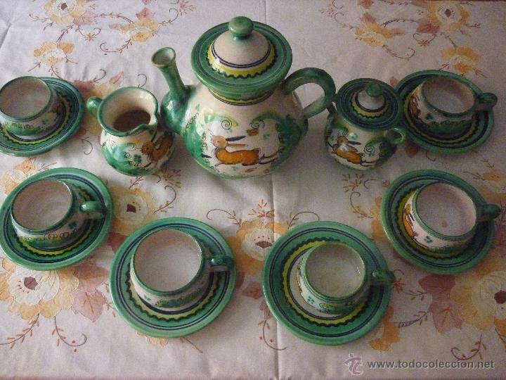 Antiguo juego de cafe o t de 6 tazas ceramic comprar - Juego para hacer ceramica ...