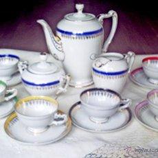 Vintage: JUEGO CAFÉ PORCELANA JAGER. Lote 46985742