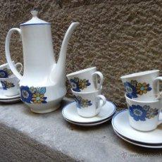 Vintage: PRECIOSO JUEGO DE CAFE DE PORCELANA, AÑOS 60. Lote 45829529