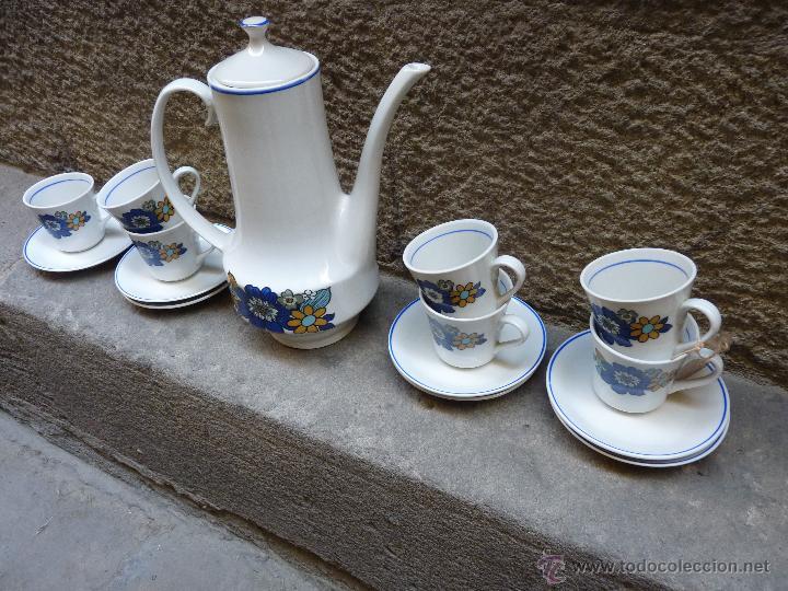 Vintage: Precioso juego de cafe de porcelana, años 60 - Foto 2 - 45829529