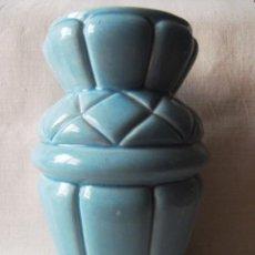 Vintage: JARRON ANTIGUO EN CERAMICA AÑOS 30 MANISES AZUL TURQUESA. Lote 44694075