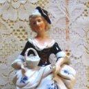 Vintage: FIGURA DE PORCELANA DE MUJER 16CM DE ALTO. Lote 46079824