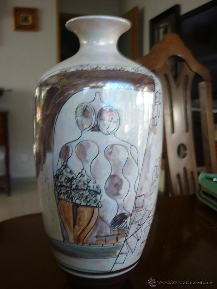 JARRON DE CERAMICA CATALANA FIRMADO ARTFANG (Vintage - Decoración - Jarrones y Floreros)