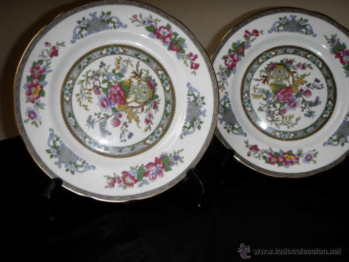 PAREJA DE PLATOS INGLESES (Vintage - Decoración - Porcelanas y Cerámicas)