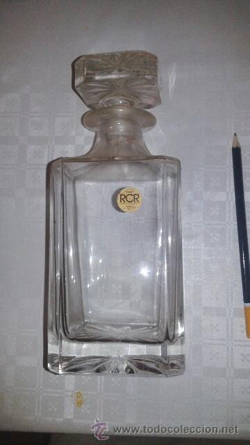 BOTELLA CRISTAL (Vintage - Decoración - Cristal y Vidrio)