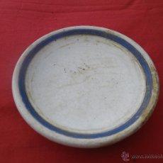 Vintage - ANTIGUO PLATO BLANCO Y AZUL - 46460435