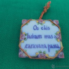 Vintage: PEQUEÑO AZULEJO CERAMICA. Lote 46488009