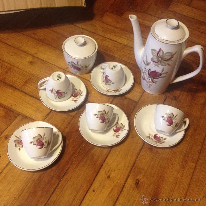 ZANAGRA SANTANDER JUEGO DE CAFE (Vintage - Decoración - Porcelanas y Cerámicas)
