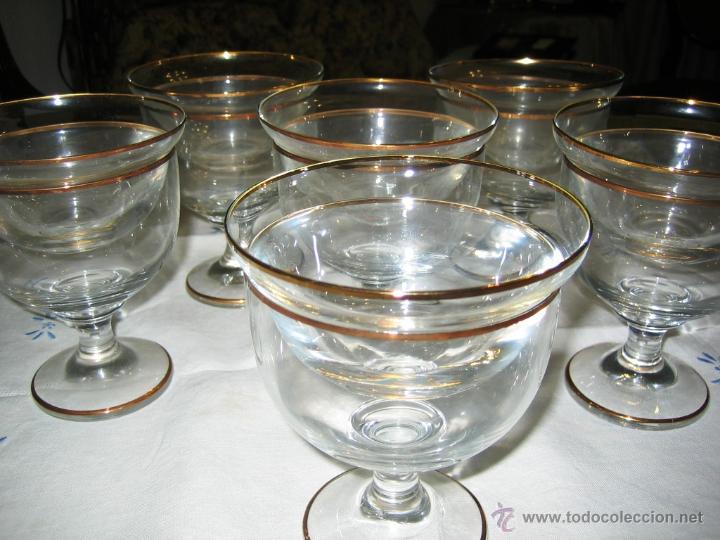 COPAS COCTEL MARISCO- 6- CRISTAL BOHEMIA (Vintage - Decoración - Cristal y Vidrio)