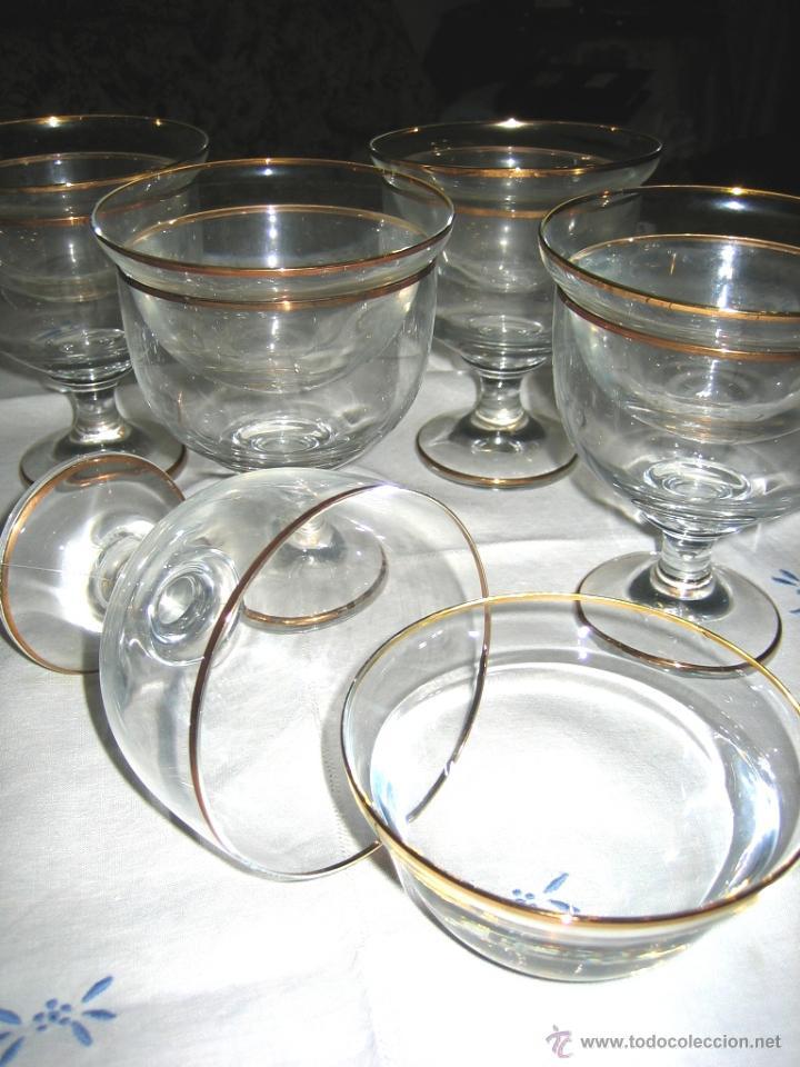 Vintage: COPAS COCTEL MARISCO- 6- Cristal Bohemia - Foto 2 - 46652854