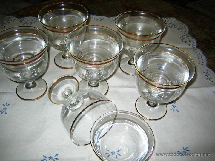 Vintage: COPAS COCTEL MARISCO- 6- Cristal Bohemia - Foto 3 - 46652854