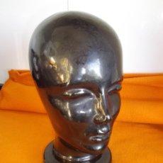 Vintage: RARA CABEZA CERAMICA LOZA ORIGINAL ALEMANA MANIQUI MID CENTURY EXPOSITOR BAUHAUS PORTA SOMBRERERO. Lote 46734348