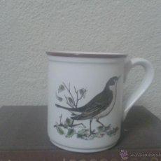 Vintage: ANTIGUA TAZA DE CAFE MONKY CON ILUSTRACION PAJARO. Lote 95312167