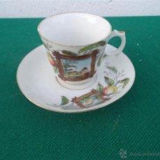 Vintage: TAZA Y PLATO PORCELANA. Lote 47025986