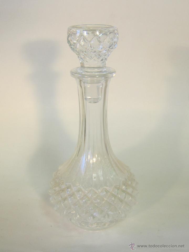 LICORERA EN CRISTAL TALLADO (Vintage - Decoración - Cristal y Vidrio)
