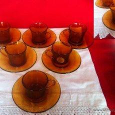 Vintage: DURALEX AMBAR - CAFE - TAZAS MIDEN . Lote 47048835