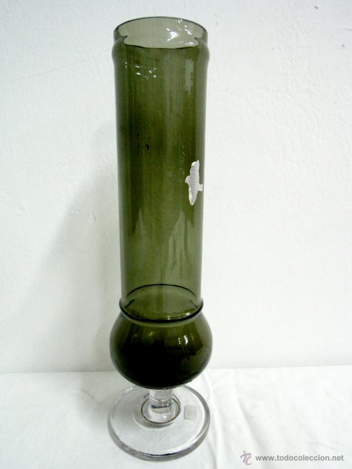 JARRÓN VINTAGE TUBO VERDE (Vintage - Decoración - Cristal y Vidrio)