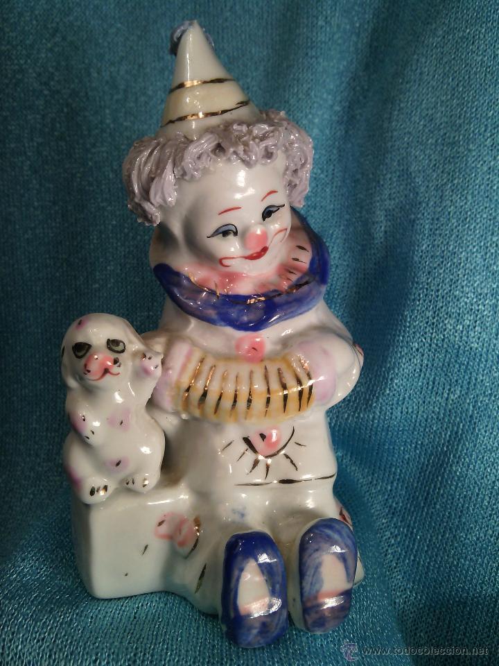 PAYASO EN PORCELANA. (Vintage - Decoración - Porcelanas y Cerámicas)