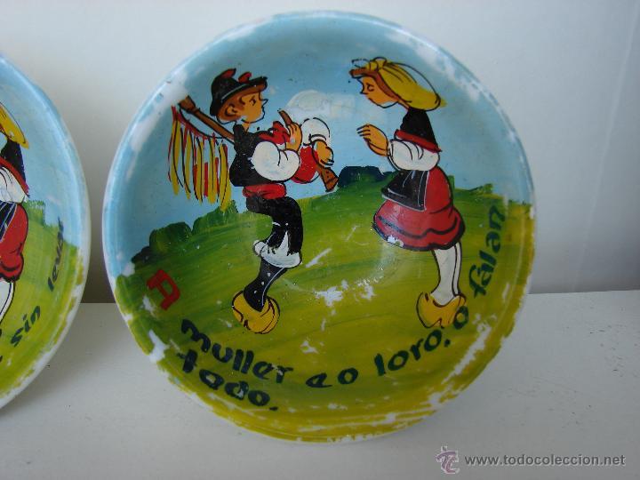 Vintage: CONJUNTO DE 6 PEQUEÑOS CUENCOS CON FRASES EN GALLEGO - Foto 2 - 47504580