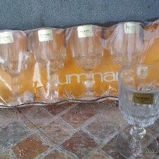 Vintage: PRECIOSO JUEGO DE 6 COPAS LUMINARC, A ESTRENAR.. Lote 47766311