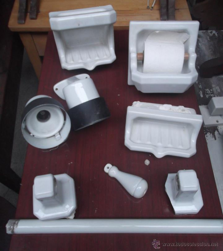 Lote completo de accesorios de ba o de porcelan comprar for Accesorios bano ceramica