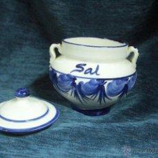 Vintage: SALERO DE PORCELANA, CON TAPA -REF101-. Lote 47928270