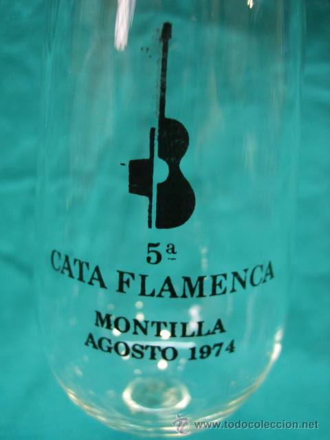 CATAVINOS 5 CATA FLAMENCA MONTILLA (CORDOBA) (Vintage - Decoración - Cristal y Vidrio)