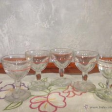 Vintage: LOTE DE 5 COPAS DE LICOR DE LOS 50 O 60. Lote 48110246